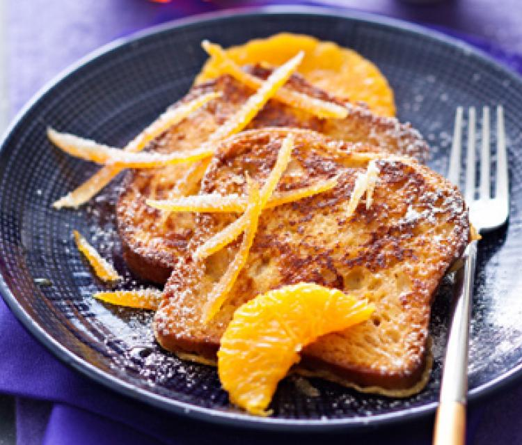 Pain Perdu aux Zestes d'Orange Confits