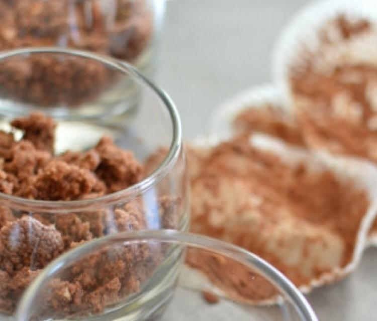 Verrine pomme chocolat noisettes