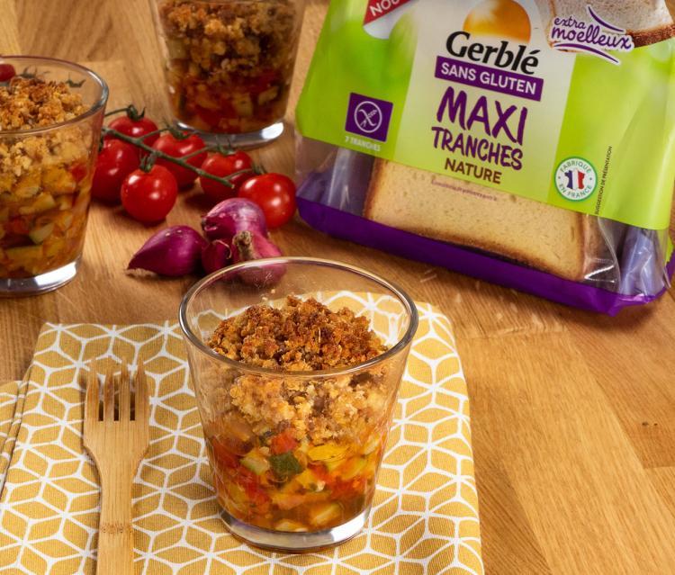 Crumble sans gluten de légumes confits
